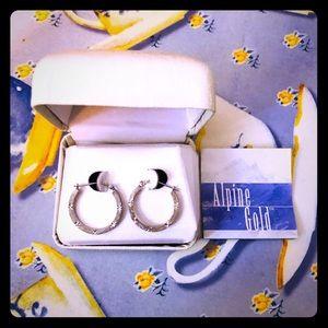 Alpine Gold 14K White Gold Earrings